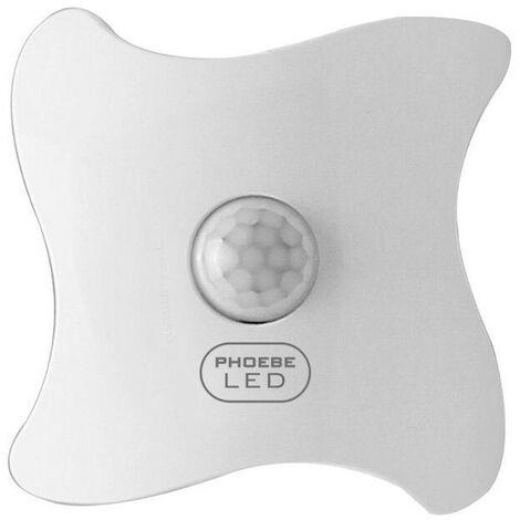 (1 Pack) Phoebe LED Night Light Sensor 3000K Warm White Day-Night Auto Bathroom Hallway Bedroom