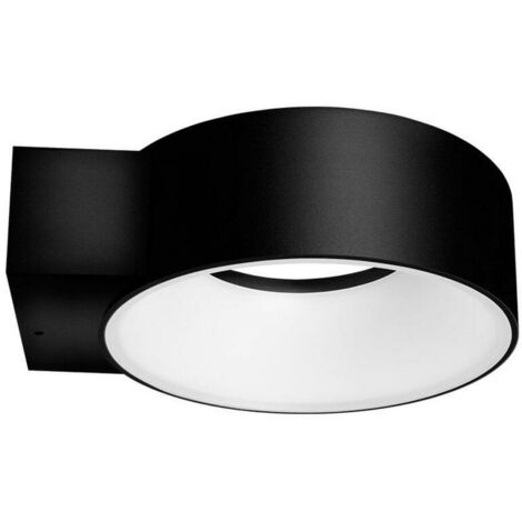 (1 Pack) Phoebe LED Wall Light 8W Polo IP65 4000K Cool White 120° Diffused Black 510lm Downlight Outdoor Garden External