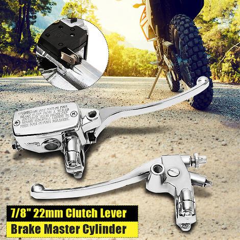 1 pair 7/8 '' motorcycle handlebar master cylinder hydraulic brake control + clutch lever
