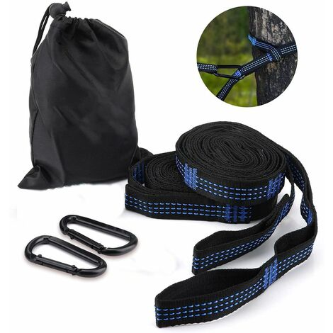 1 pair of hammock attachment set hanging straps tree straps with 14 loops 280cm * 2.5cm max 500kg for camping hiking picnic outdoor travel