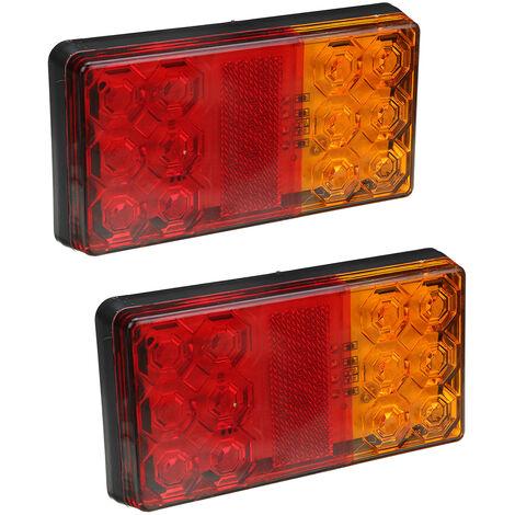 1 paire avec réflecteur 12LEDs feu arrière clignotant indicateur feu stop feu stop arrière