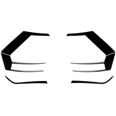 1 paire pour VW Golf 7 GTI R GTD 2012 2013 2014 2015 noir séparateur de pare-chocs arrière Canard Auto pièces extérieures non adaptées pour GOLF 7.5