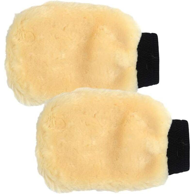 Bares - 1 Paires Gants de Lavage Microfibre pour Voiture Extérieur, Gants de Nettoyage Auto Séchage Rapide sans Rayures de Voiture