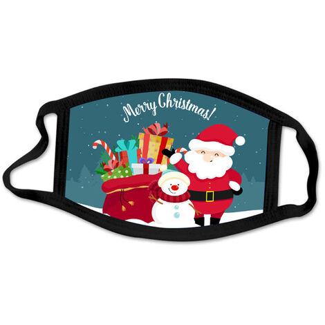 1 Paquet Anti-Poussiere Masque Bouche Joyeux Noel Mode De Protection Masques Visage Poussiere Bouche Revetements, Lavable Reutilisables, Style 10