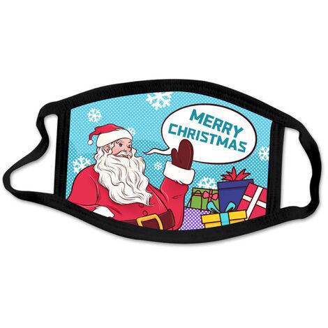 1 paquete anti-polvo Mascara facial Mascarillas de proteccion Feliz Navidad de la moda boca del polvo de Revestimientos, reutilizables y lavables para completar un ciclo recorrido que acampa, de 7 de estilo