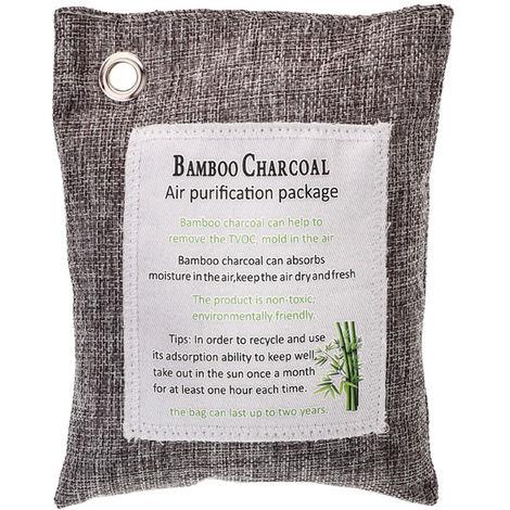 1 paquete, bolsa de carbon de bambu, para el carbon de casa activado mas fresco, 200g