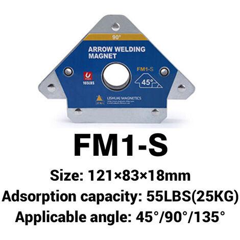1 PC 3 Angle de localisation de soudure magnétique support d'aimant de soudage flèche soudeur positionneur S
