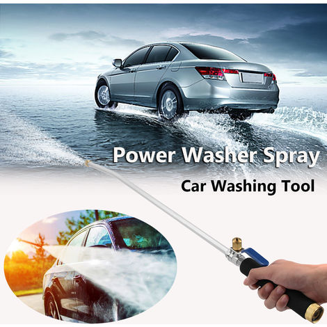 1 Pc Car High Pressure Power Washer Spray Doul Water Nozzle Water Pipe Wand Attachment Bridge