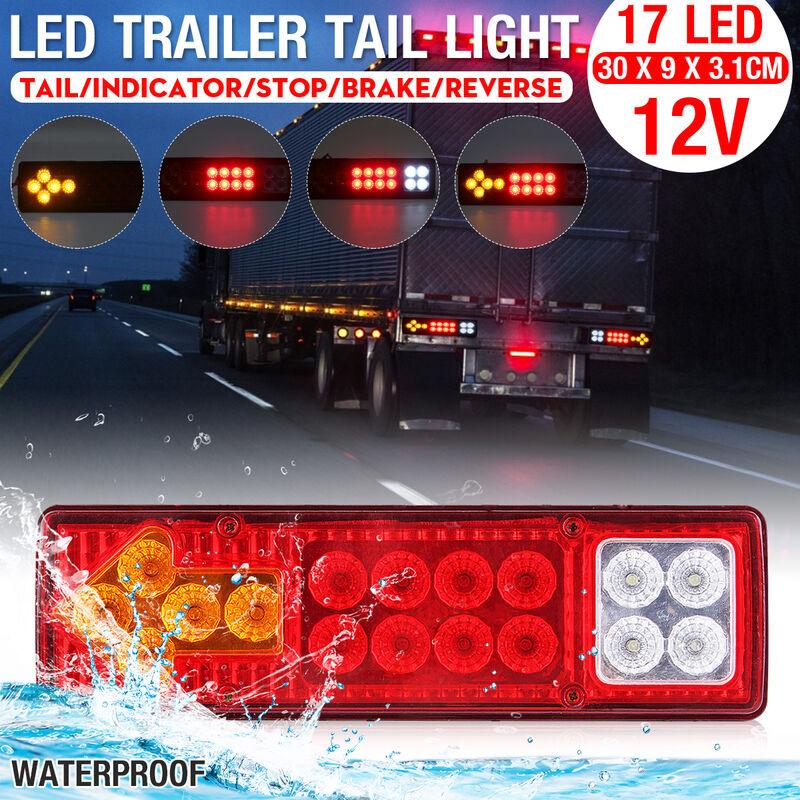 1 Pcs 17 LED 12V Car Trailer Tail Light (1PCS 12V)
