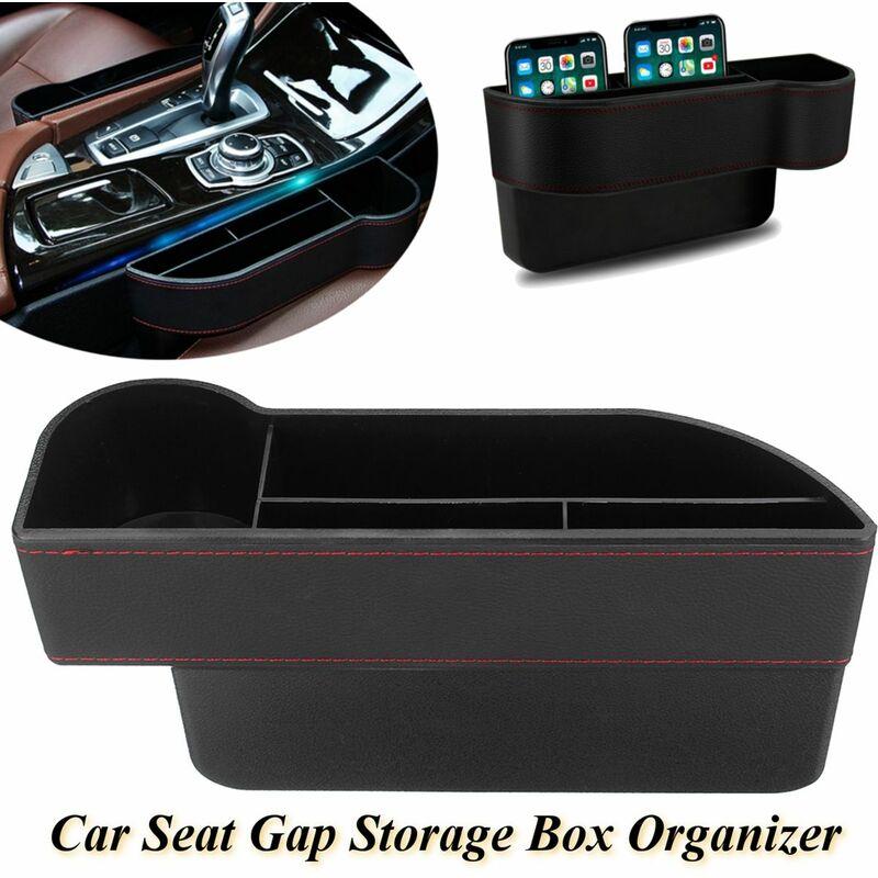 1 Pcs Car Seat Storage Box Kit Pocket Organizer Drink Phone Keychain With Base