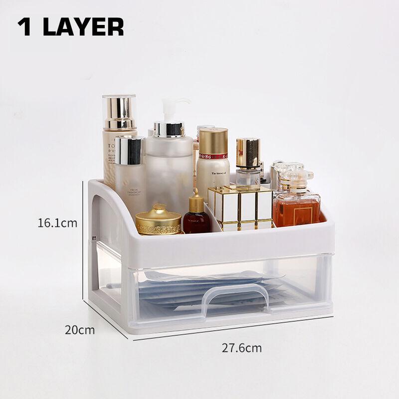 Maerex - 1 pcs Cosmetic Receiving Box Transparent Makeup Organizer Storage Acrylic Organizer 1 layer