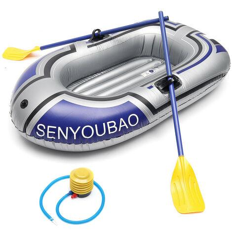 1 personne bateau de pêche kayak gonflable cano? aviron bateau pneumatique Double valve dérive bateau de plongée accessoire de pagaie de pêche (simple)