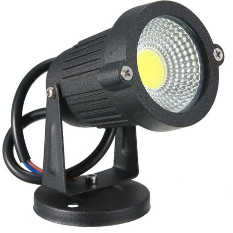 1 pi¨¨ces ¨¦tanche Luminaire IP65 3W COB LED AC85V-265V blanc avec socle