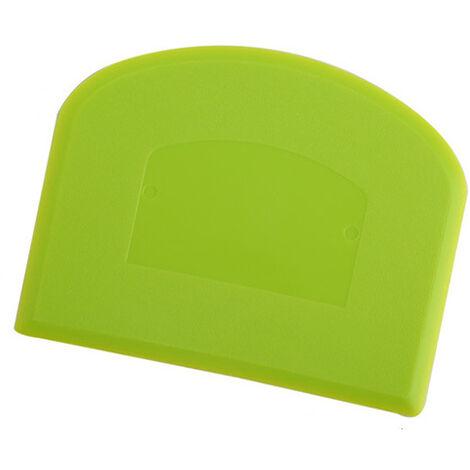 1 Pièces 11.7x9,3cm - Coupe-pâte Grattoir a Pâte en Plastique pour Cuisine, Pâtisserie, Crêpes - Vert