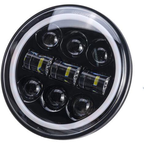"""1 pièces 5-3 / 4 \""""5.75\"""" projecteur de moto LED phare lampe ampoule scellée Hi-Lo faisceau Halo anneau lampe pour Jeep"""
