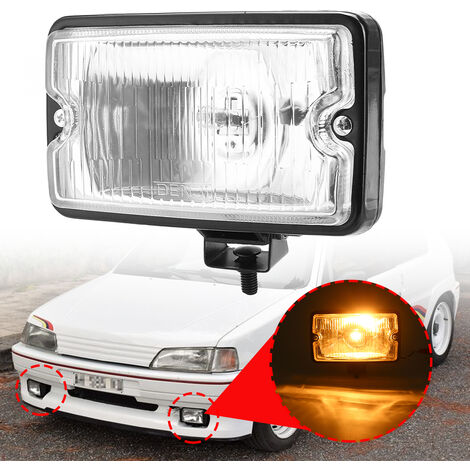 1 pièces ampoule de phare antibrouillard de pare-chocs avant H3 pour PEUGEOT 205 GTI CTI 106306 Mi16 (blanc, 1 pièces)