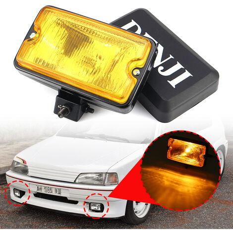 1 pièces ampoule de phare antibrouillard de pare-chocs avant H3 pour PEUGEOT 205 GTI CTI 106306 Mi16 (jaune, 1 pièces)