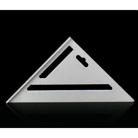 1 pièces règle de travail du bois de vitesse en alliage d'aluminium métrique disposition carrée onglet Triangle règle de chevron mesure charpentiers outils de marquage
