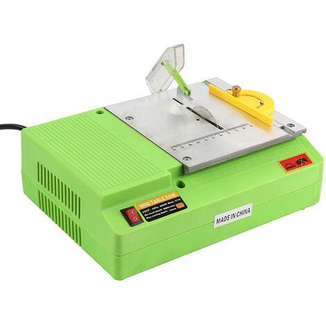 1 pieza 220 V 480 W Mini sierra de mesa manual multifuncional sierra circular eléctrica banco herramienta de corte para carpintería