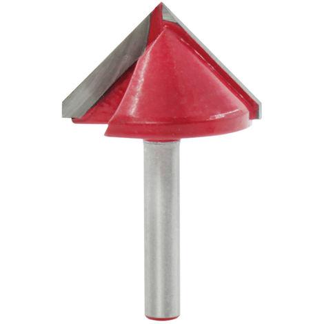 1 pieza de cortador de carpinteria, cortador en forma de V de 90 grados, cabezal de corte