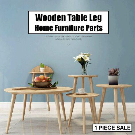 1 pieza de madera, pata de mesa, silla cónica, taburete, sofá, piezas de muebles para el hogar (60 cm)