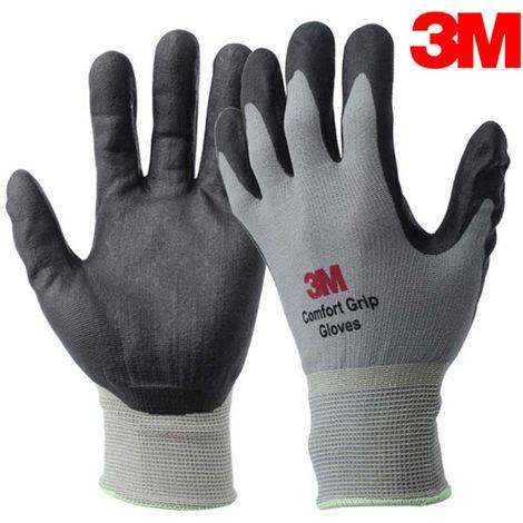 1 pieza, Guante Comfort Grip, Guantes protectores de caucho nitrilo,L