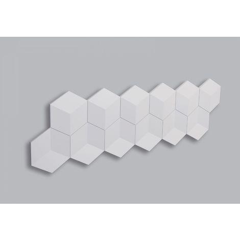 1 Pieza Panel 3D Decorativo de Poliuretano CUBE