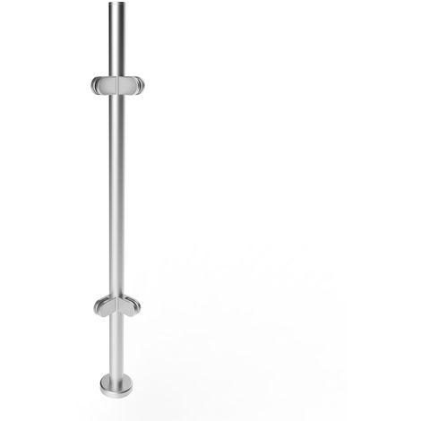 1 pieza Postes de barandilla de acero inoxidable 316 Poste de esquina de vidrio (sin riel superior) 1100 mm x 1.2 mm Hasaki
