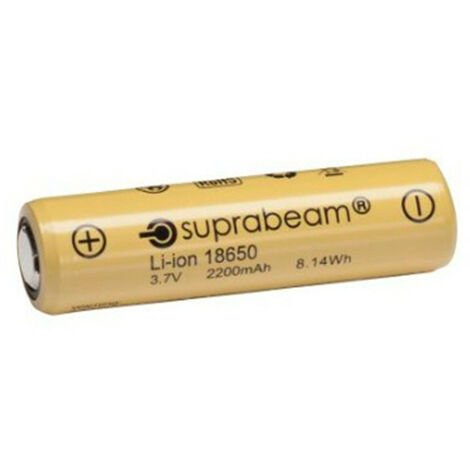 1 Pile rechargeable Li-Ion 18650 - 8,14 W 2,2 Ah pour lampe de poche Q3r - Q4xr - -
