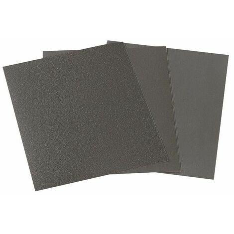 1 pliego de papel de lijar en húmedo y seco 230 x 280 mm Wolfcraft Grano 1000