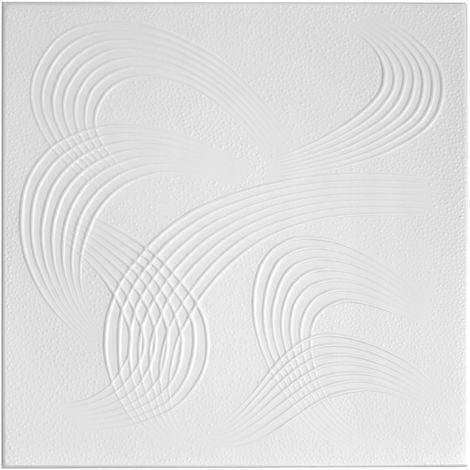 1 qm | Deckenplatten | XPS | formfest | Hexim | 50x50cm | Nr.84