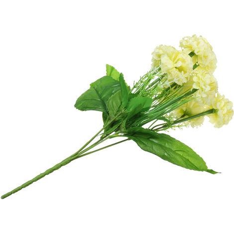 1 ramo 9 hortensias Posy cabezas de boda de seda artificial Ramo de flores Decoración interior loto rojo