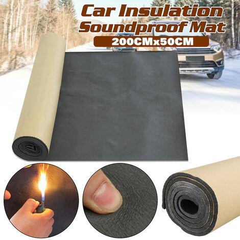 1 rouleau voiture insonorisation amortissement voiture camion anti-bruit isolation phonique coton chaleur à cellules fermées mousse (10 mm)