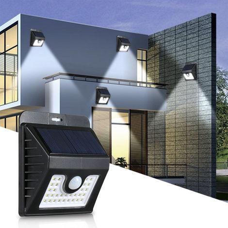 1 Sensor de movimiento PIR piezas de LED de energia solar del jardin al aire libre pared de la luz de la lampara a prueba de agua de 30 LED