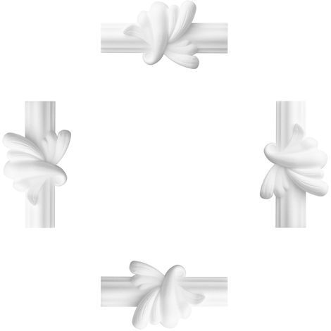 1 Set 4 Stück Segmente für Flachleiste E-19 Zwischensegment Stuck LE-19-01