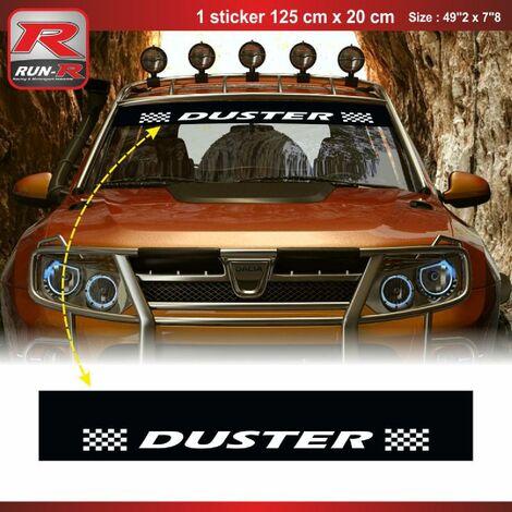 1 sticker pare-soleil 00CUNB compatible avec DACIA Duster - Noir et Blanc