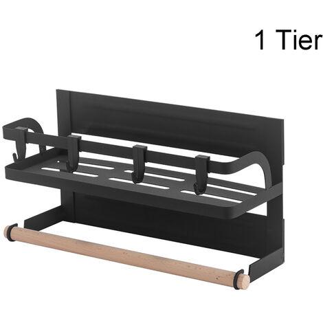 1 Tier Fridge Side Shelf Spice Storage Magnetic Rack Holder Stand Kitchen Unit