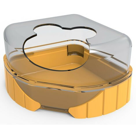 1 toilet house for small rodents. Rody3 . color banana. size 14.3 cm x 10.5 cm x 7 cm . for rodents.