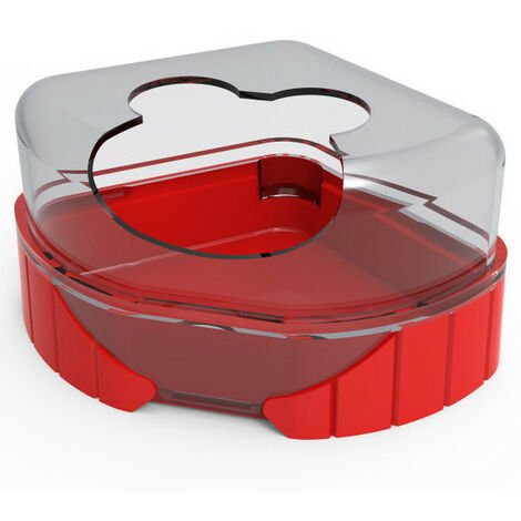 1 toilet house for small rodents. Rody3 . color red. size 14.3 cm x 10.5 cm x 7 cm . for rodents.