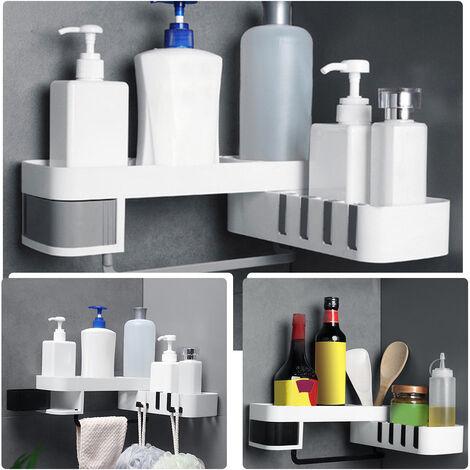 """main image of """"1 Uds estante de ducha de esquina bano champu estante de ducha soporte de cocina estante de almacenamiento organizador montado en la pared"""""""