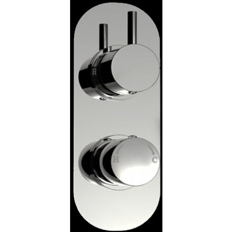 1 Way Round Handled Concealed Thermostatic Shower Mixer Valve