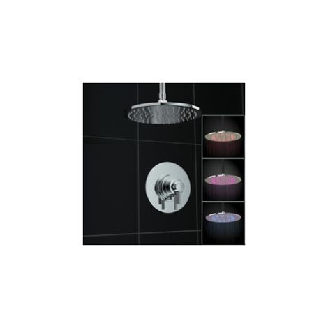 1 Way Thermostatic Mirror Shower Valve Mixer Led Ceiling Set