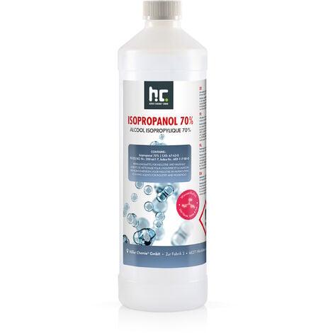 1 x 1 Litre alcool isopropylique 70%