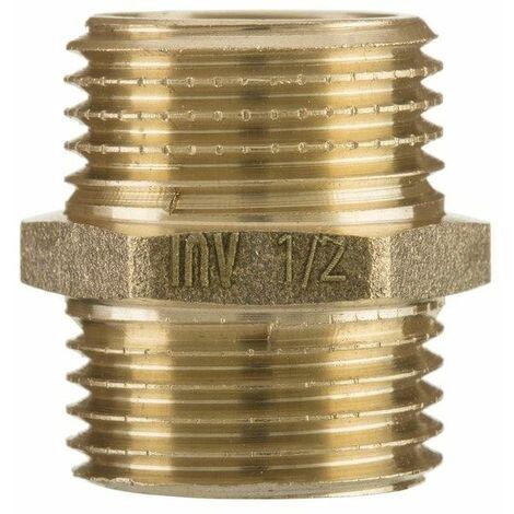 """1 """"x 1"""" pouces BSP mâle union raccord de tuyau de fil du mamelon menuisier raccord en laiton"""