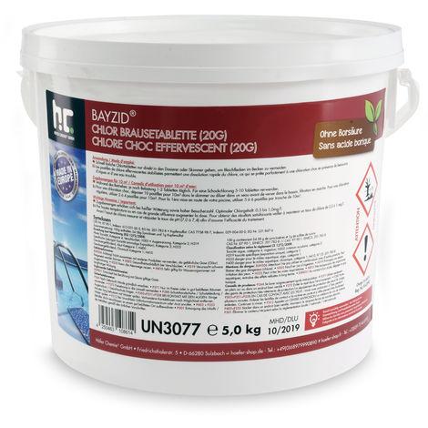1 x 5 kg 5 Kg Chlore choc effervescent (20g)