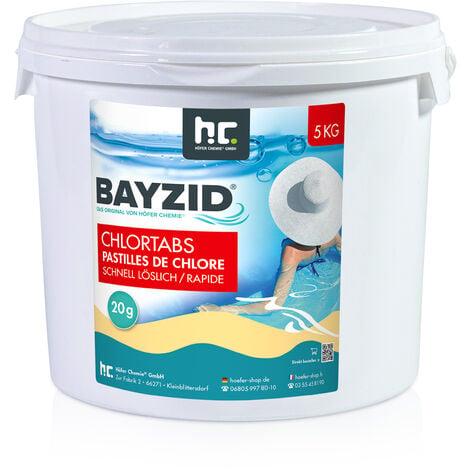 1 x 5 kg Bayzid Pastilles de chlore choc (20g)