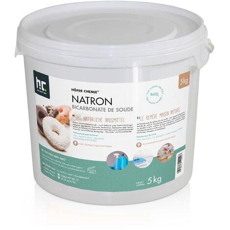1 x 5 kg de bicarbonate de sodium en qualité alimentaire - l'aide ménagère parfaite