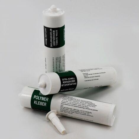 """main image of """"1 x colle, natte de bordure de bassin, bâche gravillonnée, filet anti-érosion pour le film de bassin 290 ml, blanc"""""""