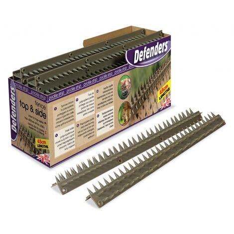 1 x Defenders Prickle Strip Fence Top N Sides 45cm Individual L-shape Lengths