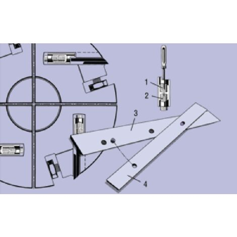 1 x fer barke 410 mm rabot dégauchisseuse